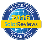 Pre-Screened Solar Pro: 2016 SolarReviews